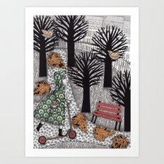Autumn in the Park Art Print