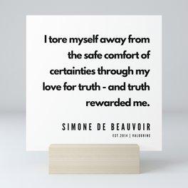 12      Simone De Beauvoir Quotes   190605 Mini Art Print