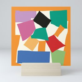 Colorful Collage Matisse Inspired Mini Art Print