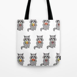 Raccoons with Fruit Tote Bag