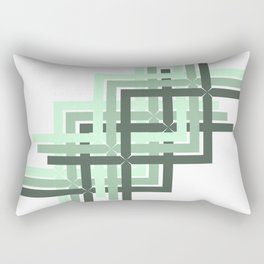 Mint Green Geometric Rectangular Pillow