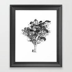 Tree and Gangster Framed Art Print
