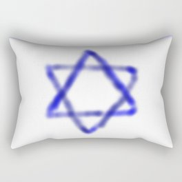 flag of israel with cloudy colors Rectangular Pillow