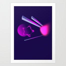 Abstract pink Art Print