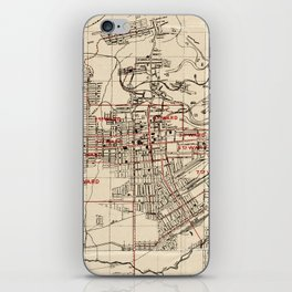 Vintage Map of Butte Montana (1909) iPhone Skin