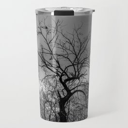 Witchy black and white tree Travel Mug