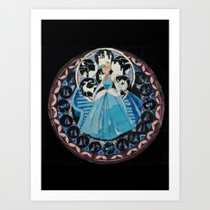 Paper fairytale window Art Print