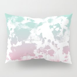 Margot - abstract painting mint and pink pastel trendy girly home decor dorm college gifts Pillow Sham