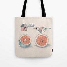 Citrus Bird Tote Bag