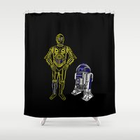 C3TYPO and R2TYPO Shower Curtain