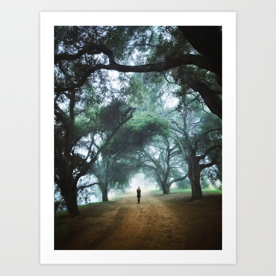 There goes Alice Art Print