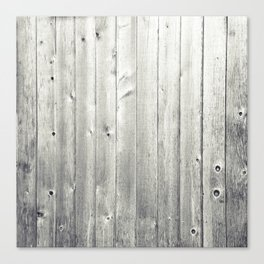 Black & White Wood Texture Canvas Print