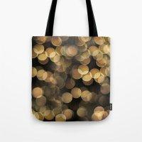 bokeh Tote Bags featuring Bokeh by Christine VanFonda