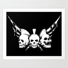 Skulls Rock Band  Art Print