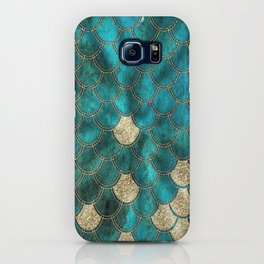 Multicolor Aqua And Gold Mermaid Scales -  Beautiful Abstract Pattern iPhone Case