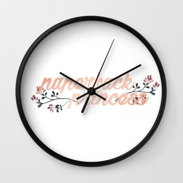 Paperback Princess - Rose Gold Wall Clock
