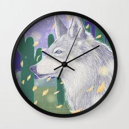 Wolf and Desert Wall Clock
