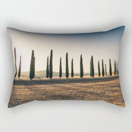 Valley in Tuscany at sunset Rectangular Pillow
