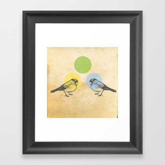 Together we make green Framed Art Print