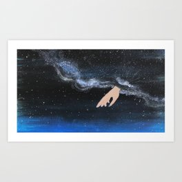 Milky Way with her Art Print