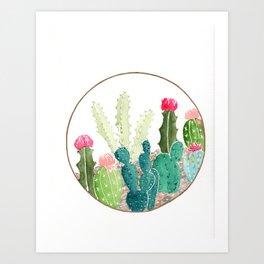 Watercolor Cactus/Cacti Illustration Art Print