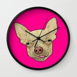 Chihuahua - Lick Me! Funny Dog Art! Wall Clock
