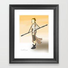 Rey x Miyazaki Framed Art Print