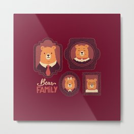 Bear Family Metal Print