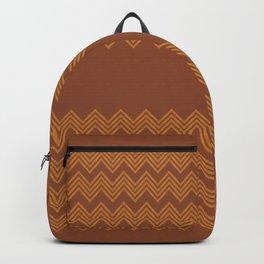 TRIBAL CHEVRON - Pantone Ginger Bread color Backpack