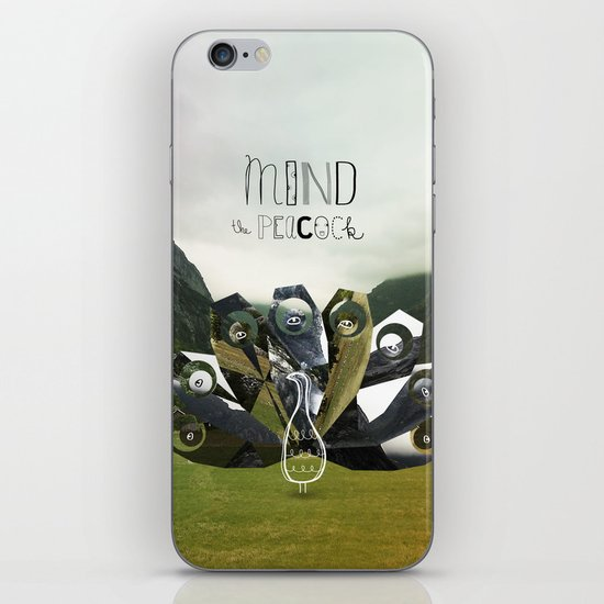 Mind the Peacock! iPhone & iPod Skin