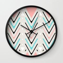 Pastel Chevron Wall Clock