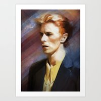 bowie Art Prints featuring Bowie by Cristina Sandia