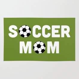 Soccer Mom Sports Quote Rug