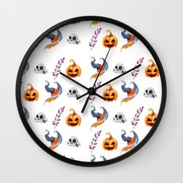 Halloween Witchy Pattern 2 Wall Clock