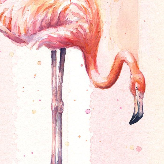 Flamingo Watercolor Flamingo Painting Leggings