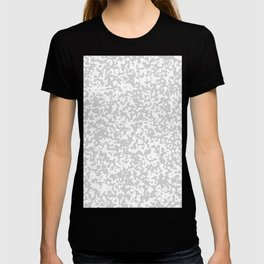 Small Spots - White and Light Gray T-shirt