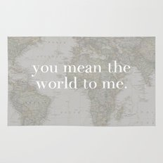 You Mean The World To Me Rug