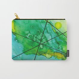 Green under the Lines Carry-All Pouch