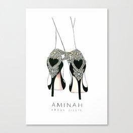 Diemond shoes Canvas Print