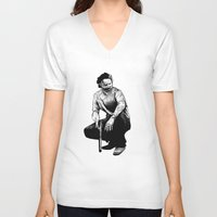 rick grimes V-neck T-shirts featuring Rick Grimes by Naomi Bell