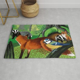 Of foxes and badgers Rug