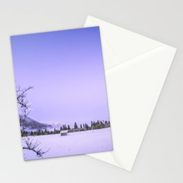 sunset after the first snowfall Stationery Cards