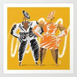 Moschino spring 2019 fashion illustration Art Print