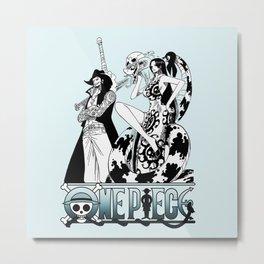 Dracule Mihawk and Boa Hancock - OnePiece Metal Print