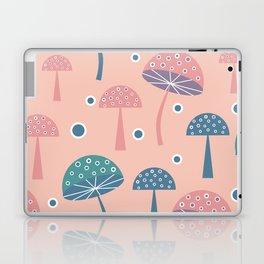 Dancing mushrooms in pink Laptop & iPad Skin
