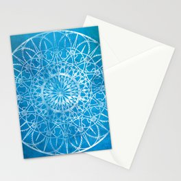 Fire Blossom - Cyan Stationery Cards