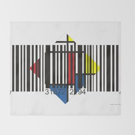 Barcode 004d Throw Blanket