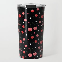 Cherry Print Travel Mug