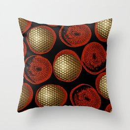 RED, BLACK & GOLD Throw Pillow