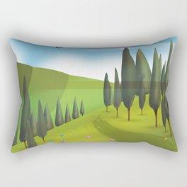 Assam, India Tea travel poster Rectangular Pillow